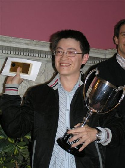 The winner Zi Wang with the London Open Cup